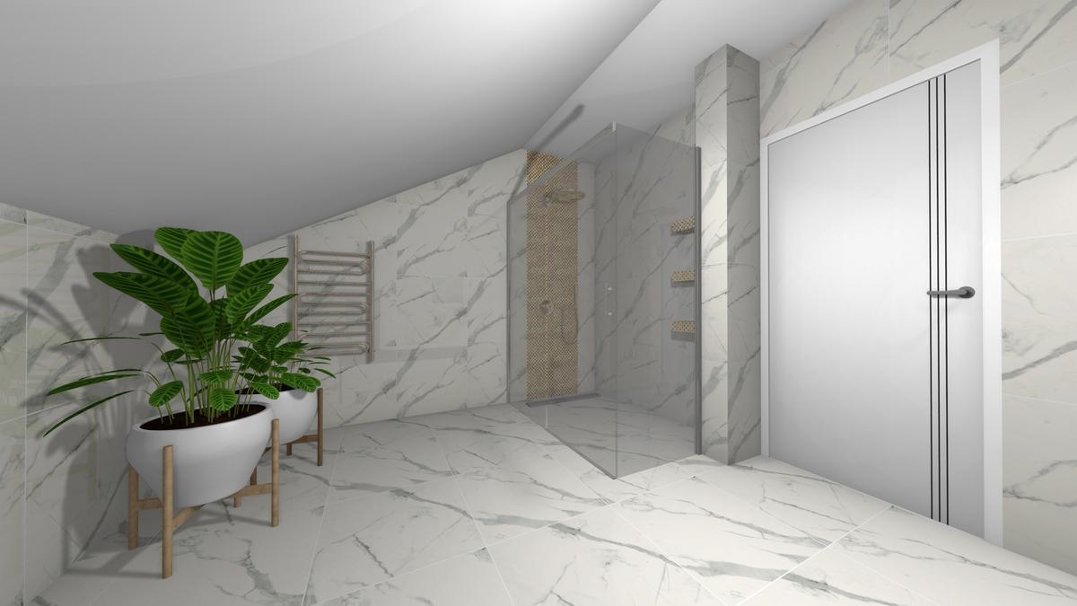 Marmur w łazience - zdjęcie od BLU salon łazienek Krosno