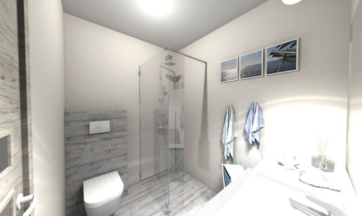 Marynistyczna łazienka - zdjęcie od BLU salon łazienek Słupsk