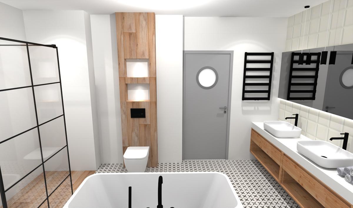 Modny patchwork w łazience - zdjęcie od BLU salon łazienek Bielsko-Biała