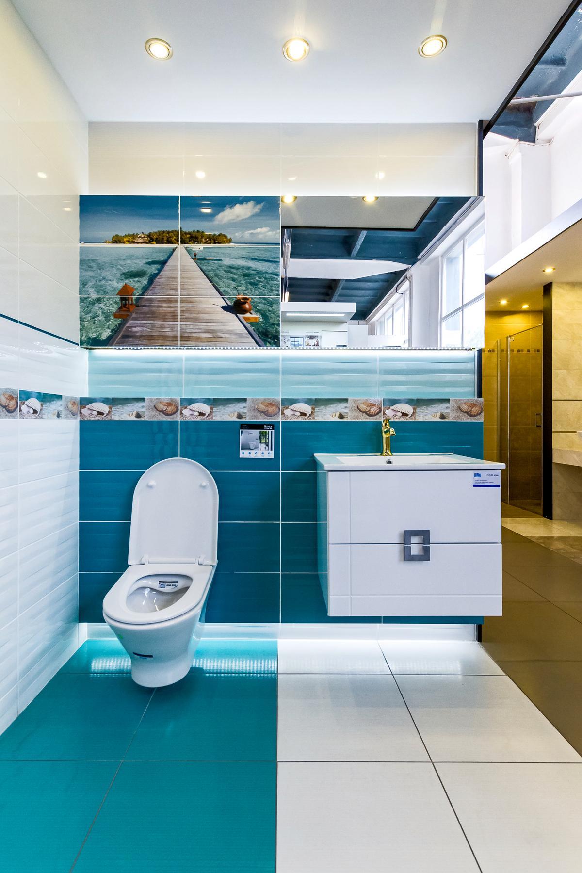 Morska nuta w kolekcji Tubądzin Maxima Azure - zdjęcie od BLU salon łazienek Kwidzyn