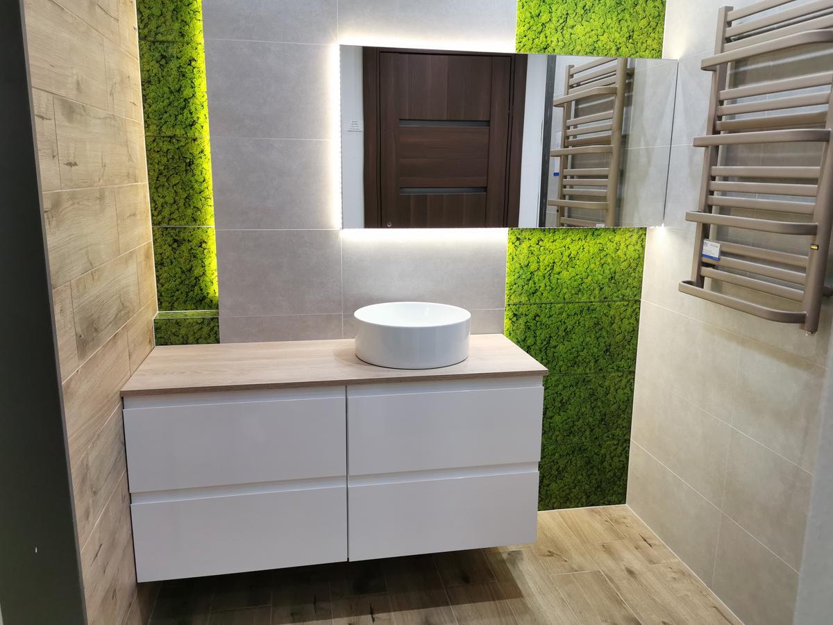 Płytka łazienkowa imitująca mech - Cersanit Fresh Moss - zdjęcie od BLU salon łazienek Ciechanów