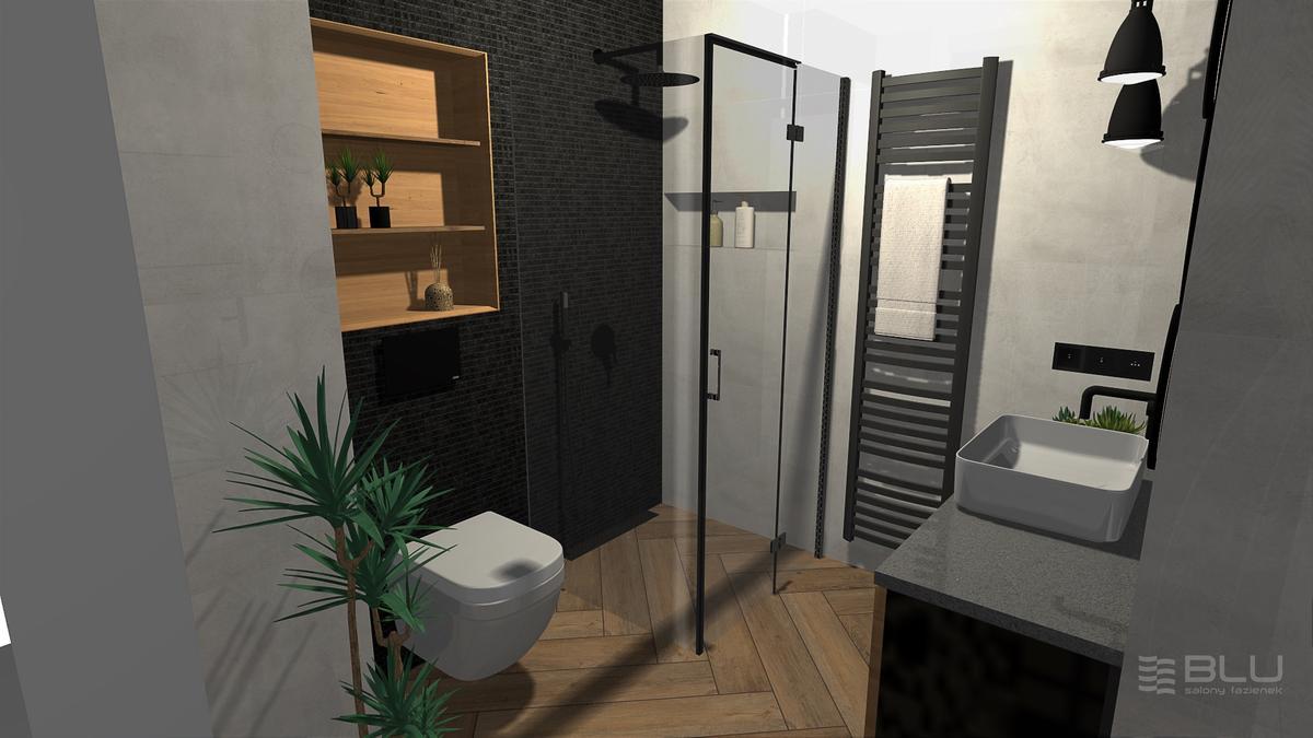 Płytka ścienno-podłogowa Nowa Gala Mirador lappato w łazience - zdjęcie od BLU salon łazienek Zamość