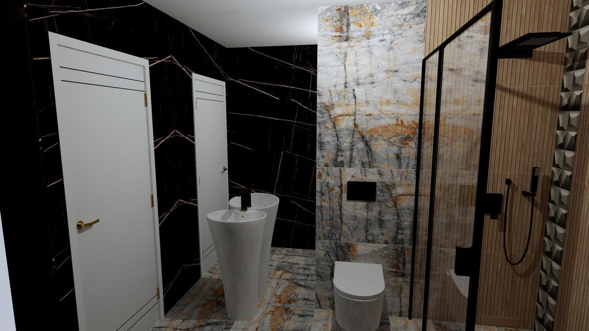 Połączenie wielu stylów w łazience - zdjęcie od BLU salon łazienek Chełm