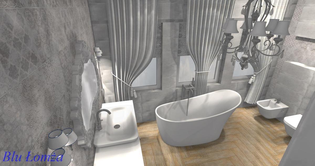 Projekt łazienki Ostrów Mazowiecka, salon łazienek Blu - zdjęcie od BLU salon łazienek Łomża