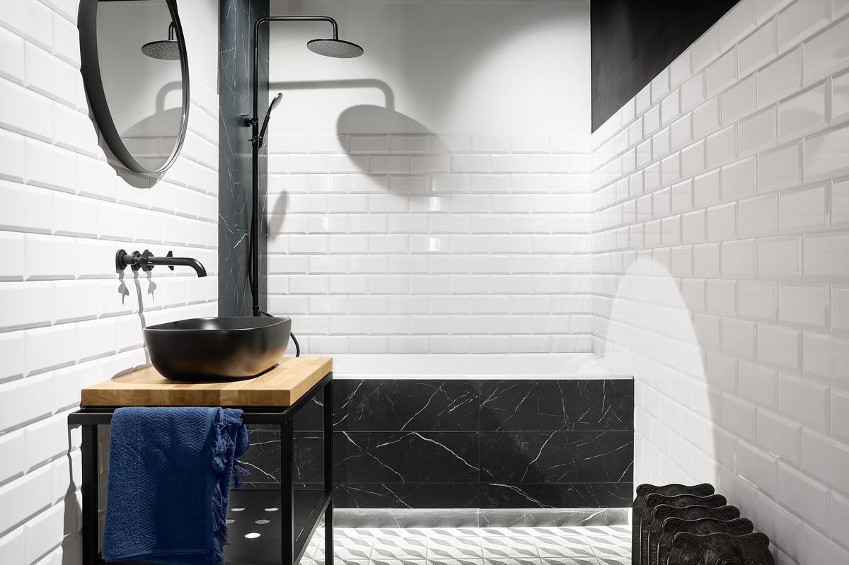 Projekt łazienki z kafelkami Paradyż Tamoe - zdjęcie od BLU salon łazienek Elbląg
