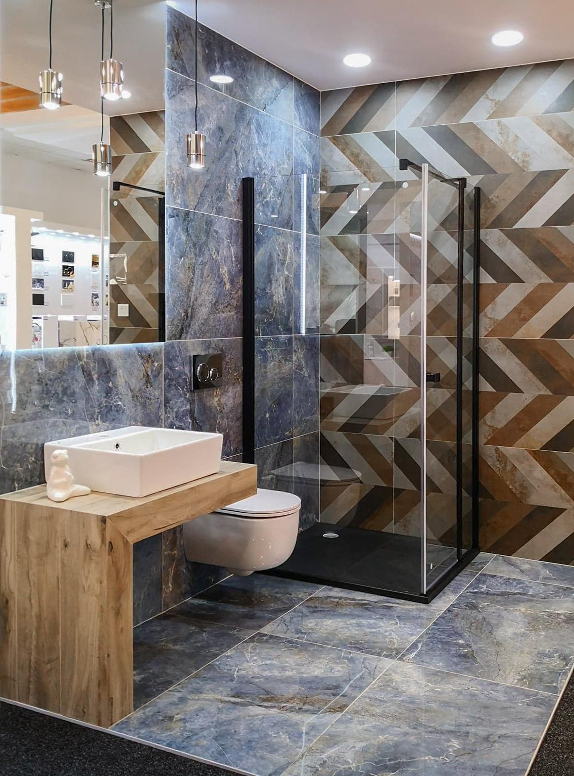 Projekt minimalistycznej łazienki w BLU Chełm - zdjęcie od BLU salon łazienek Chełm