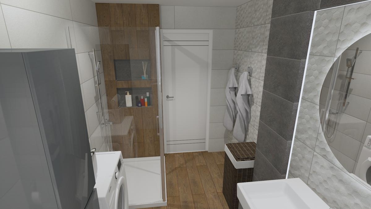 Projekt szarej łazienki - zdjęcie od BLU salon łazienek Chełm