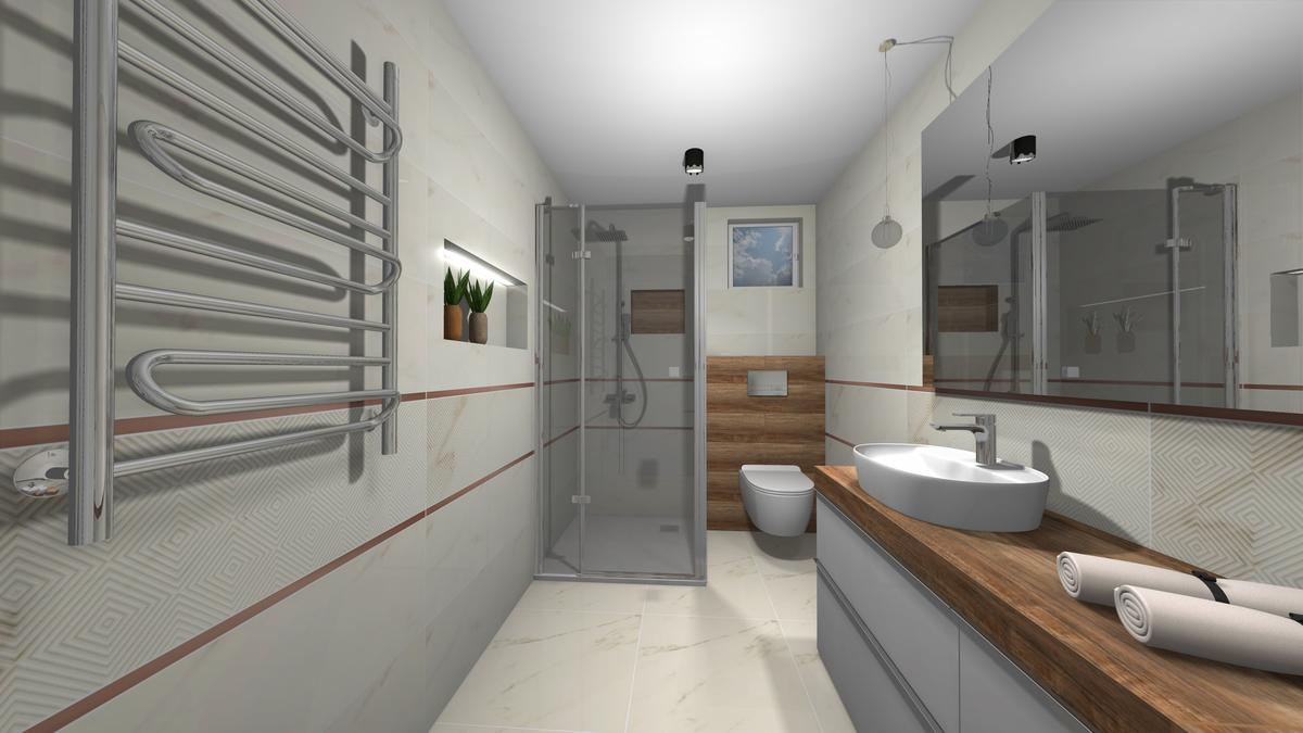 Projekt szarej łazienki - zdjęcie od BLU salon łazienek Krosno