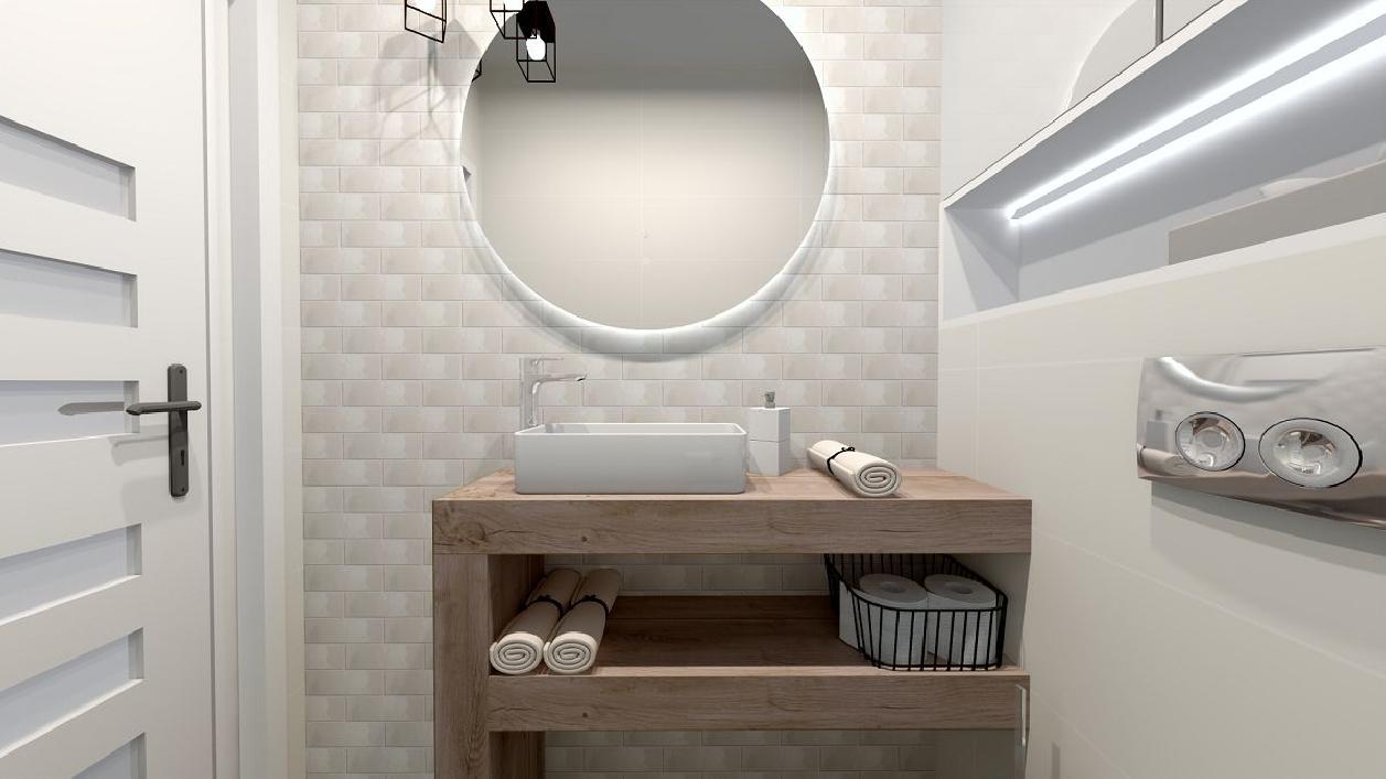 Wygodna strefa umywalkowa w małej łazience BLU Rzeszów