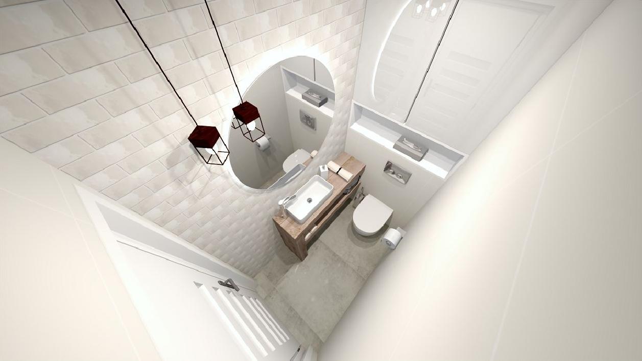 Niewielka toaleta w projekcie BLU Rzeszów