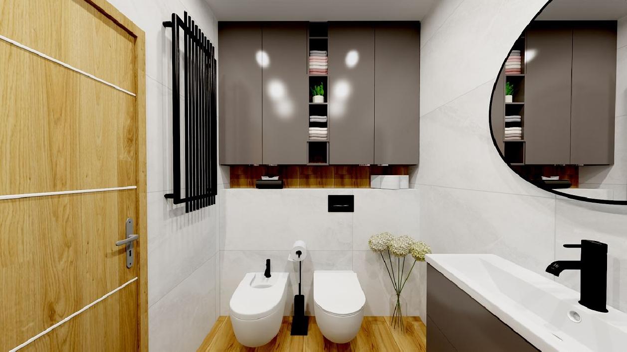 Mała łazienka z bidetem BLU Rzeszów