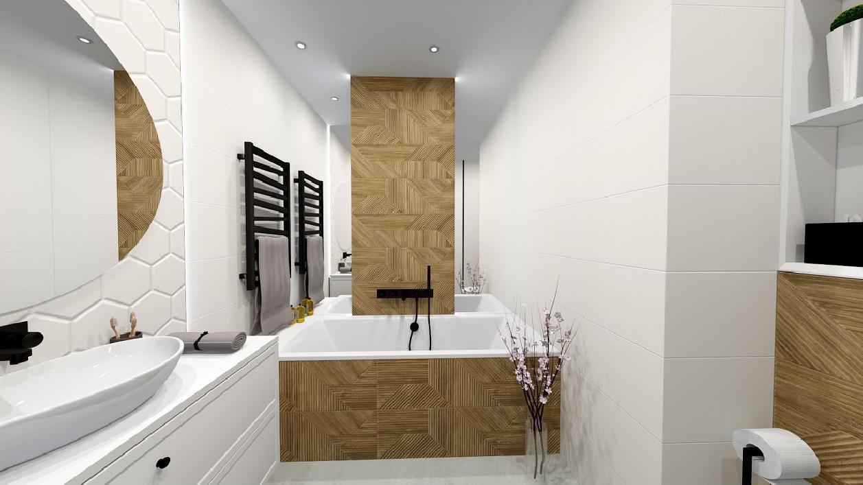 Stylowa łazienka z wygodną wanną BLU Rzeszów