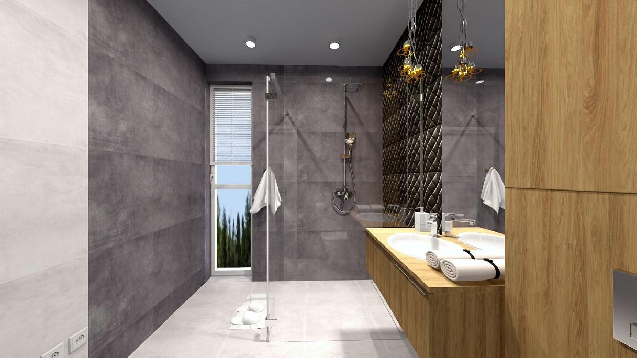 Wygodna łazienka w projekcie BLU Rzeszów