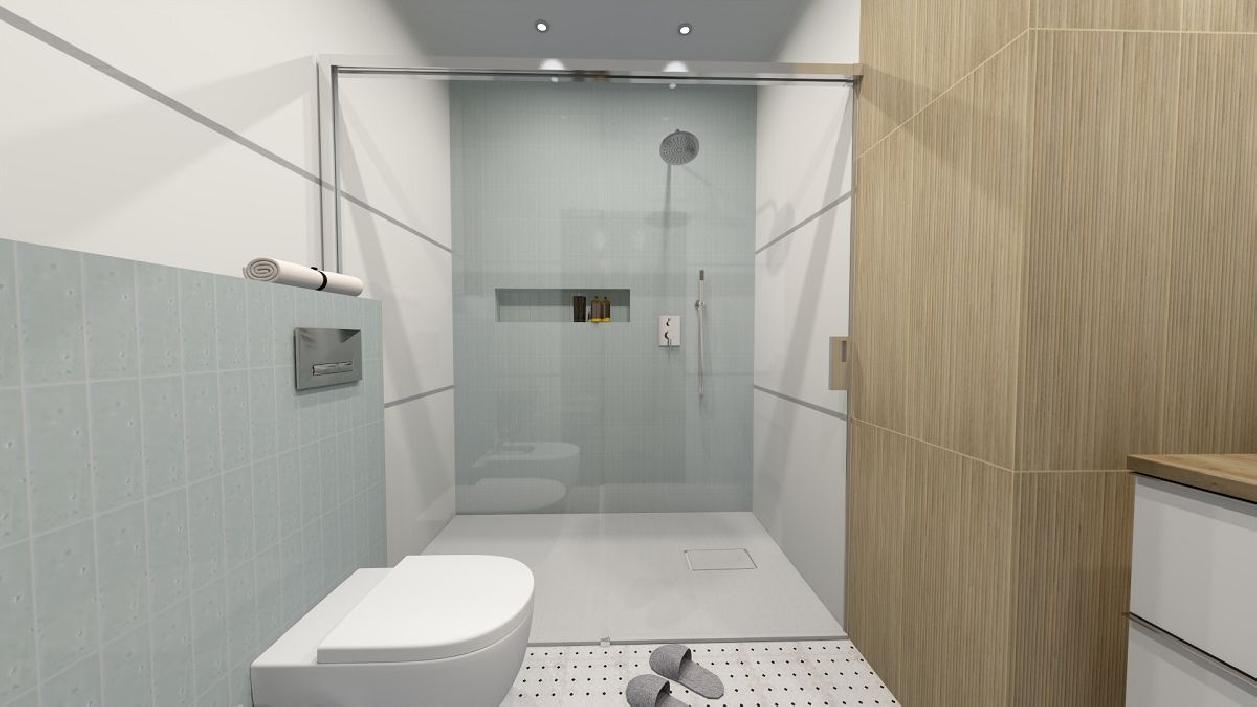 Nowoczesna łazienka z wygodną kabiną prysznicową BLU Rzeszów