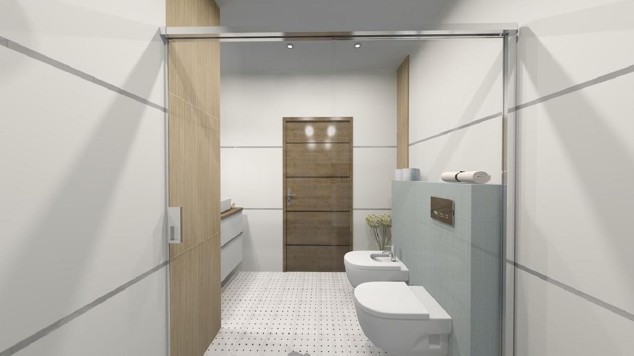 Jasna i przestronna łazienka w projekcie BLU Rzeszów