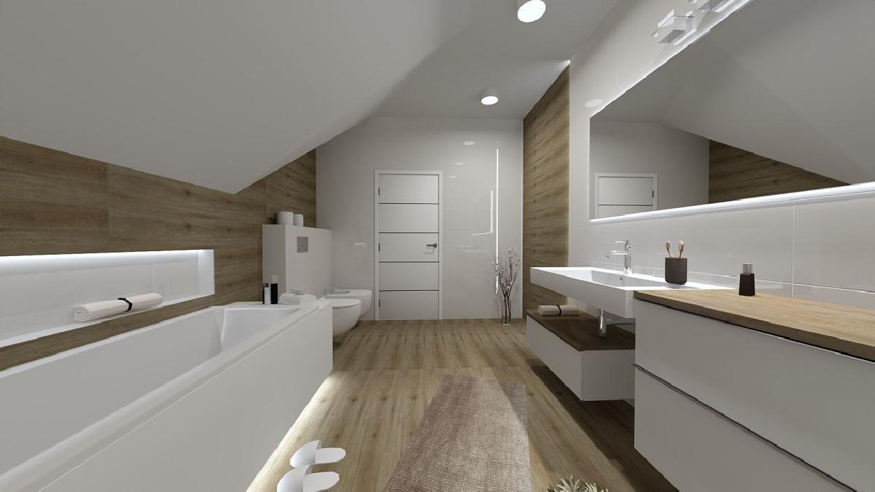 Stylowa łazienka na poddaszy BLU Rzeszów