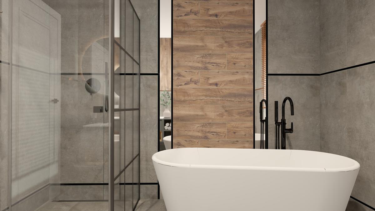 Prysznic i wanna w małej łazience - zdjęcie od BLU salon łazienek Suwałki