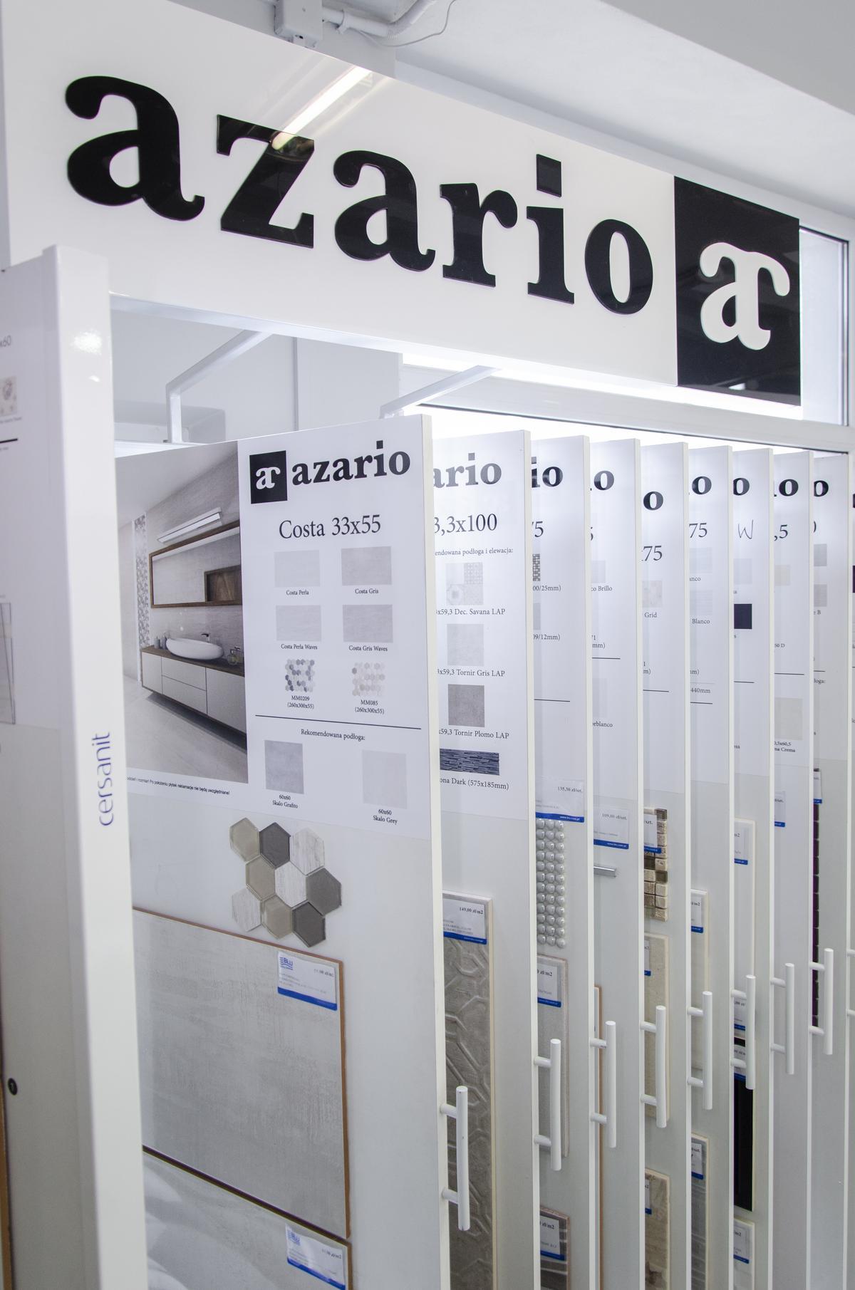 Szafy ekspozycyjne Azario w BLU Pułtusk - zdjęcie od BLU salon łazienek Pułtusk