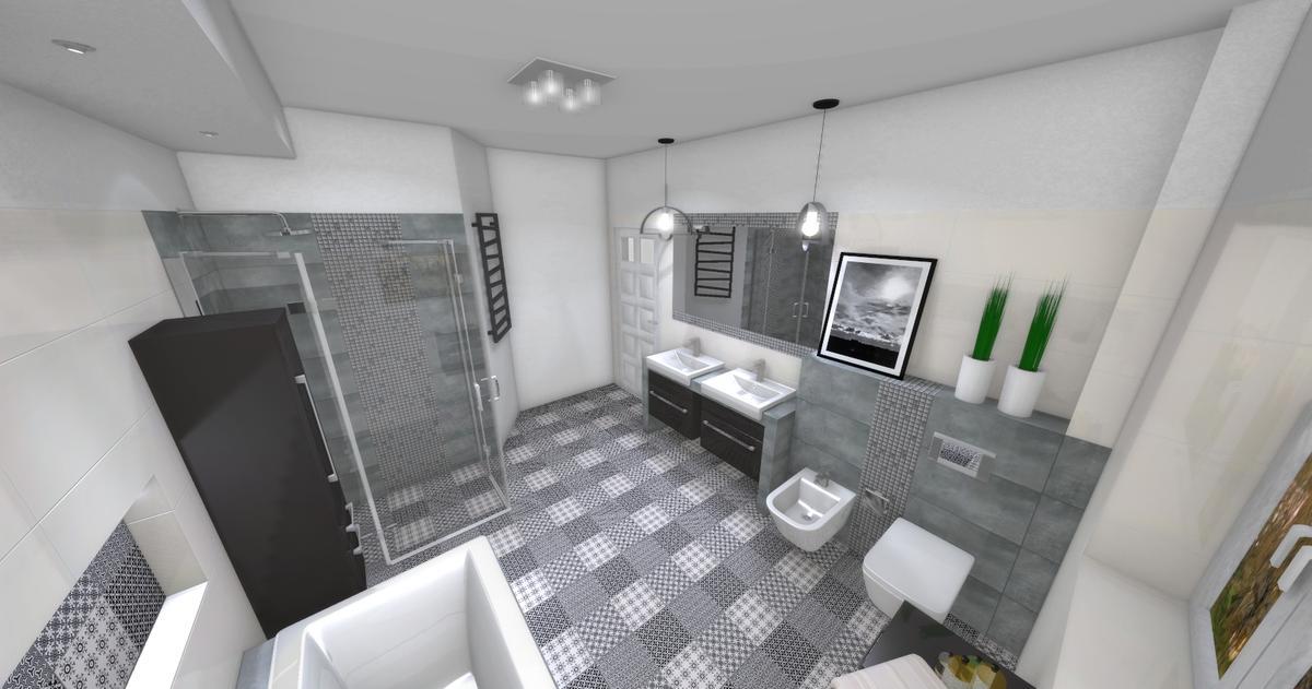 szara lazienka - zdjęcie od BLU salon łazienek Dębica