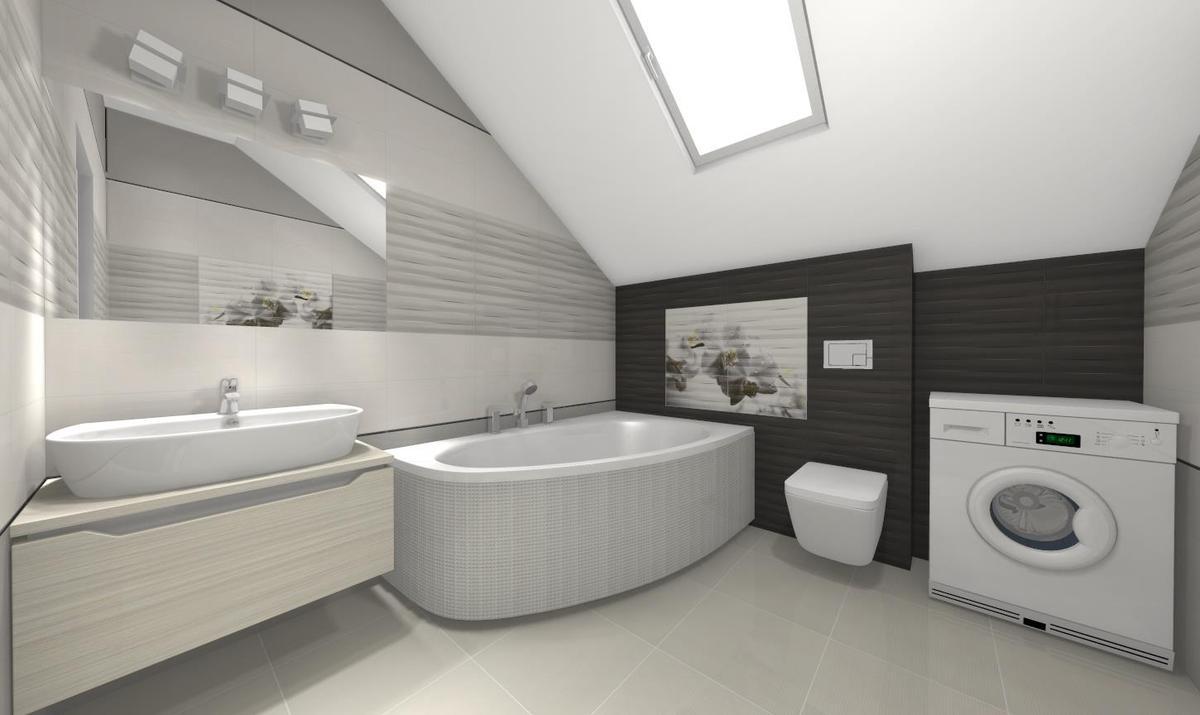 Szarości biele czerń w łazience - zdjęcie od BLU salon łazienek Słupsk