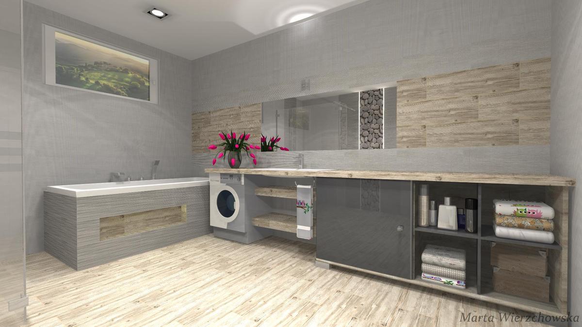 szrości drewno kamień Azario - zdjęcie od BLU salon łazienek Słupsk