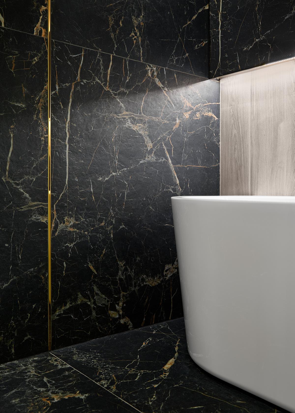 Tonalny wzór płytek Cerrad Marquina odwzorowuje sieć żyłek kamienia - zdjęcie od BLU salon łazienek Elbląg