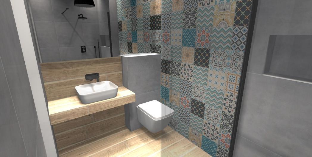 Tubądzin Patch white  - zdjęcie od BLU salon łazienek Gniezno