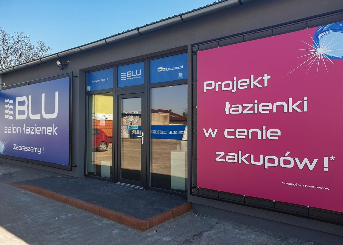 Wejście do Salonu Łazienek BLU Września - zdjęcie od BLU salon łazienek Września