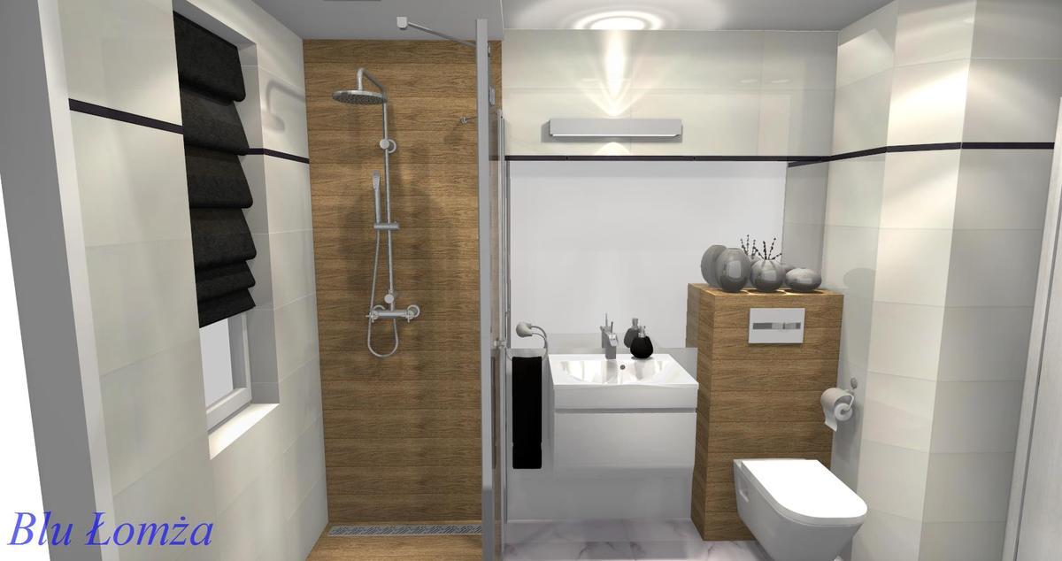 Wizualizacja łazienki Łomża, salon łazienek Blu - zdjęcie od BLU salon łazienek Łomża