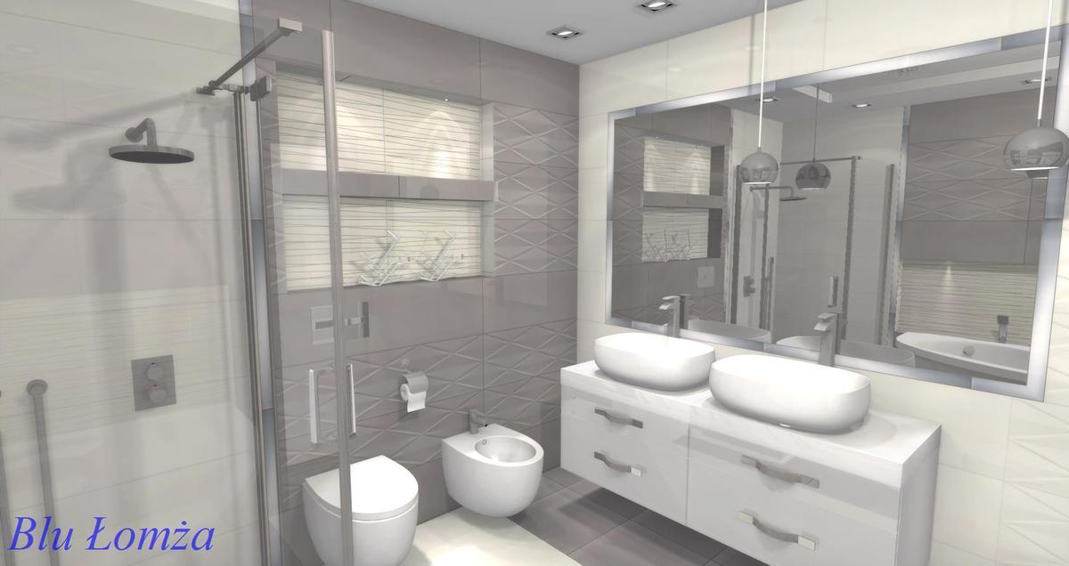 Wizualizacja łazienki Zambrów, salon łazienek Blu - zdjęcie od BLU salon łazienek Łomża