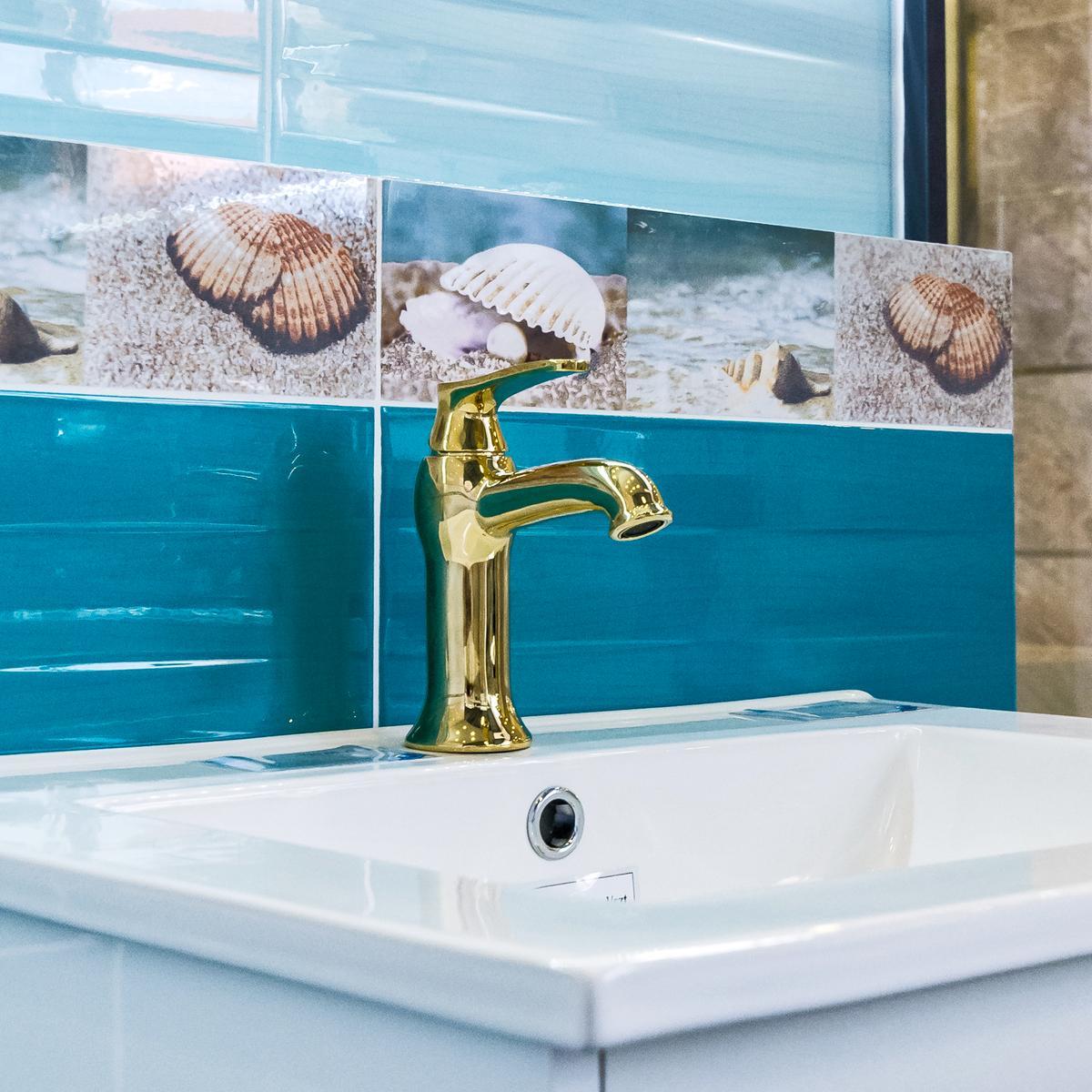 Złota bateria Omnires Art Deco - zdjęcie od BLU salon łazienek Kwidzyn