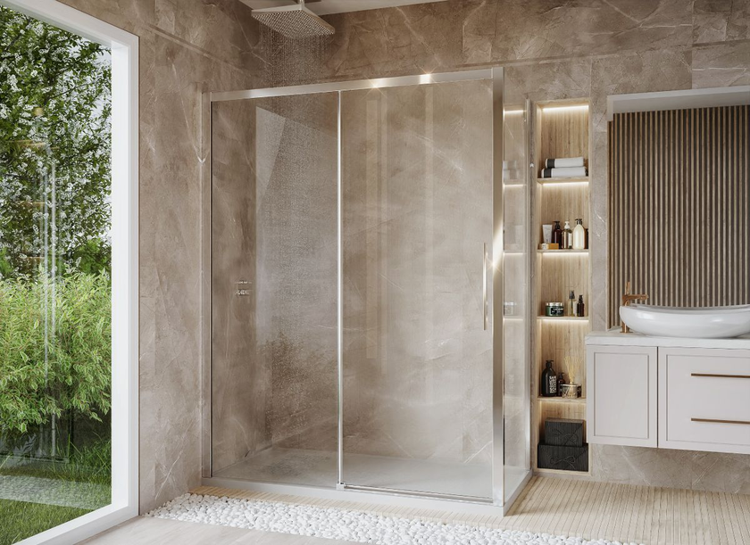 Stylowa aranżacja łazienki z wygodną kabiną prysznicową IÖ Larso