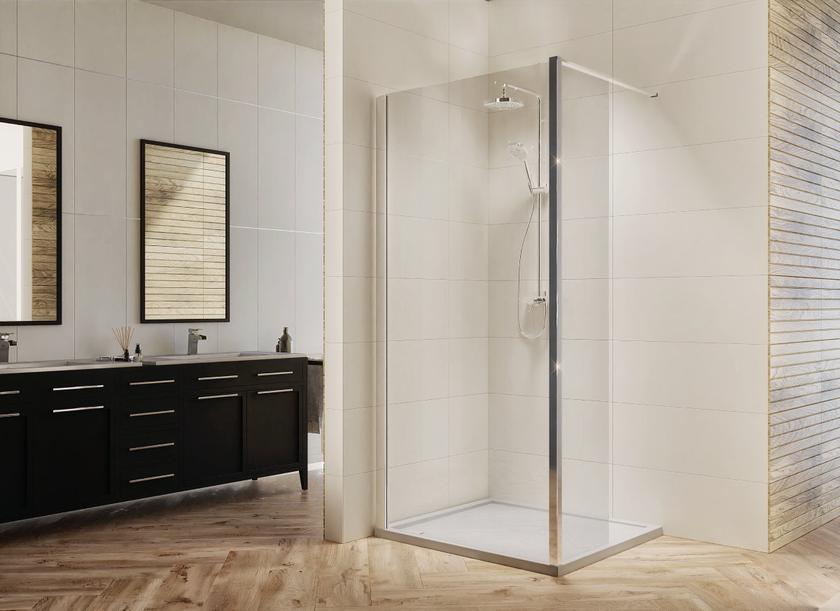 Wygodna kabina prysznicowa IÖ Larso w stylowej łazience