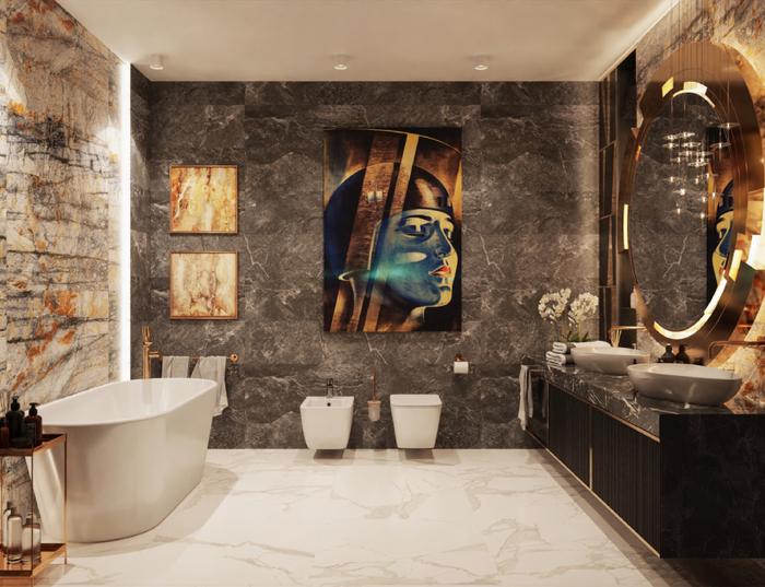 Łazienka dla dwojga z komfortową wanną