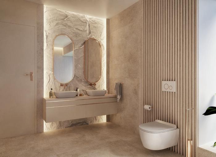 Aranżacja jasnej łazienki dla dwojga