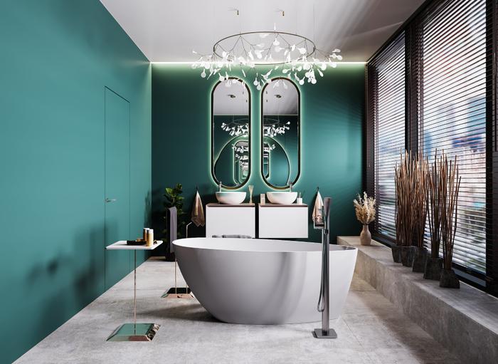 Wygodna wanna IÖ Tromso w nowoczesnej i stylowej łazience